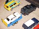 Landrover Discovery and Ford Escort on trailer